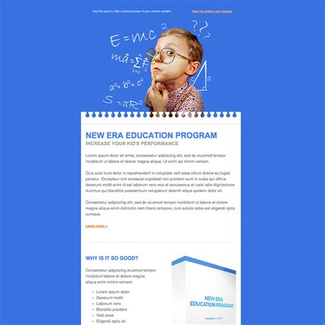Education Free Responsive Email Newsletter Template Sign Up For Our Newsletter Template