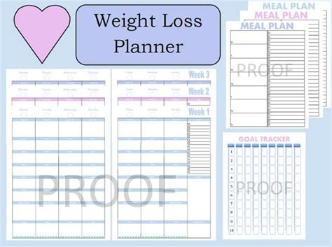 meal plan template for weight loss 17 best images about 21 day fix printable sheets on