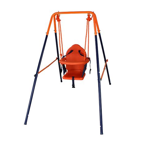 outdoor swing baby free shipping full steel pipe baby child indoor swing