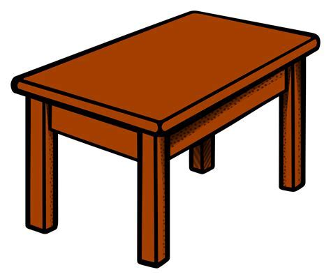 Clipart Table Coloured