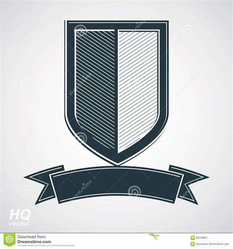 what design elements have the chinese soldiers protection vector grayscale defense shield with curvy ribbon