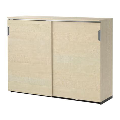 ikea sliding door cabinet galant cabinet with sliding doors birch veneer ikea