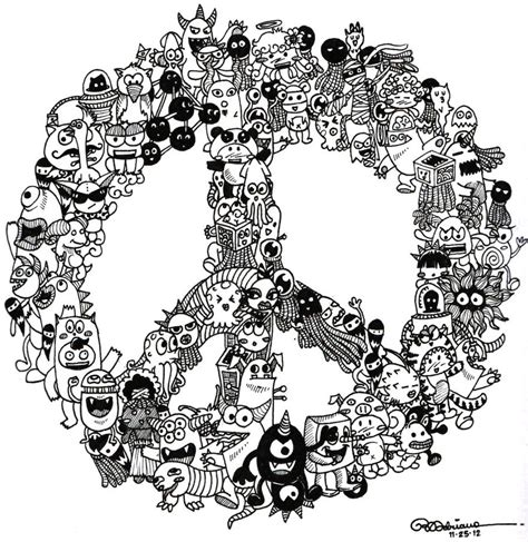 what do doodle drawings doodle peace by asoulofanartist on deviantart