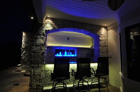 Outdoor Bar Lighting Kitchen Bars And Grills Outdoor Lighting In Chicago Il Outdoor Accents