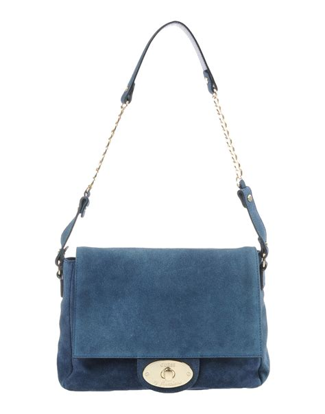 Guess Mini Leather Blue guess shoulder bag in blue lyst