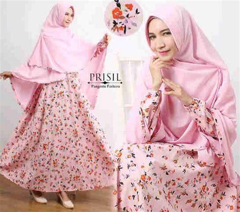 Gamis Syari Terbaru Hasanah Tosca model baju muslim syari b090 katun jepang http