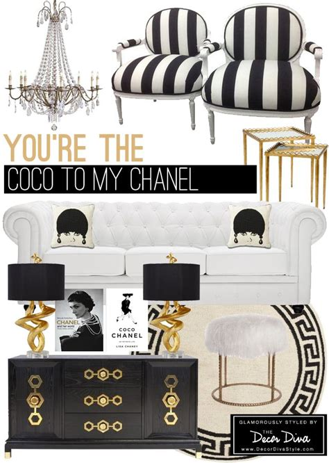 home decor channel black and white and gold room inspired by coco chanel the