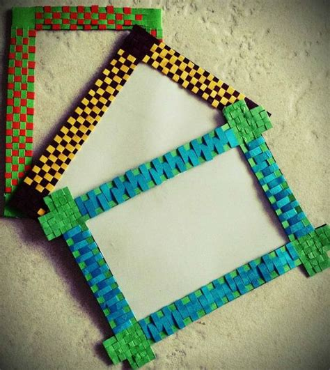 How To Make A Photo Frame Using Paper - diy paper woven photo frame fridge magnet