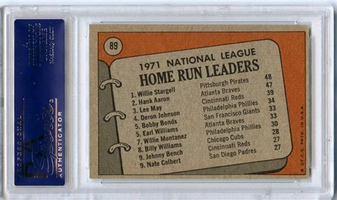 lot detail 1972 topps 89 nl home run leaders willie