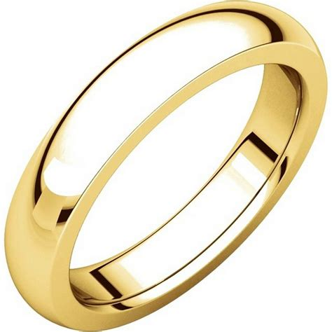 Wedding Bands Plain by 117331 Gold Plain Comfort Fit 4 5mm Wedding Band