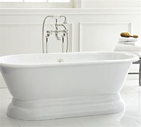 Cast Iron Freestanding Bathtubs by Porcelain Cast Iron Freestanding Pedestal Bathtub Chrome