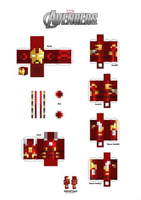 Iron Papercraft - papercraft captain america and iron