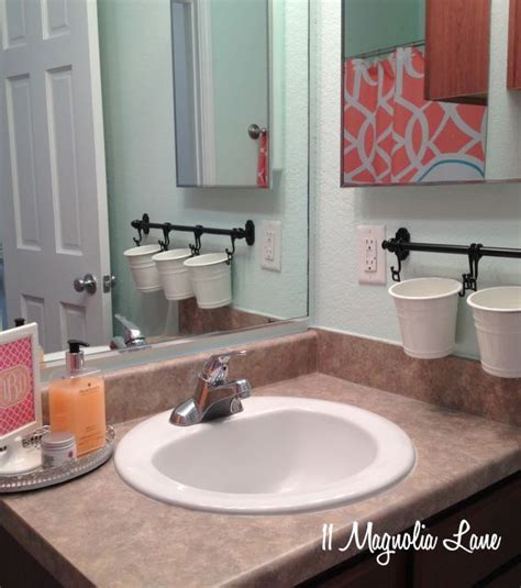 1000 ideas about bathroom counter storage on