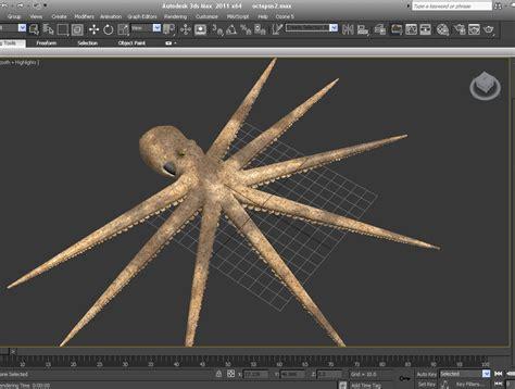 Bantal Sofa Octopus Bone Design 2 octopus 3d model max obj fbx lwo lw lws blend cgtrader