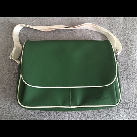 Lacoste Crocodelle Large Messenger Bag by Lacoste Authentic Lacoste Messenger Bag From Shop S