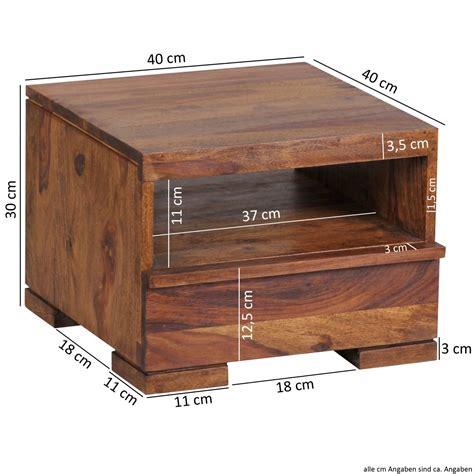 comodino larghezza 30 cm wohnling sheesham massiccio tavolo di legno comodino con