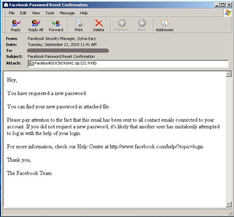 password change email template spammers impersonate staff to push trojans