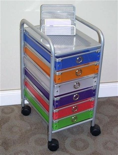 Organizer Cart On Wheels 6 Drawer Rolling Storage Home Office School Craft