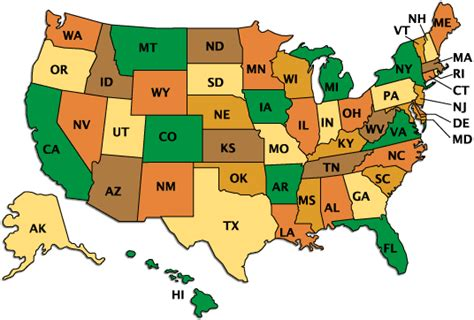 50 State Map Quiz by File Name Us 50 2 Gif Resolution 659 X 899 Pixel Image