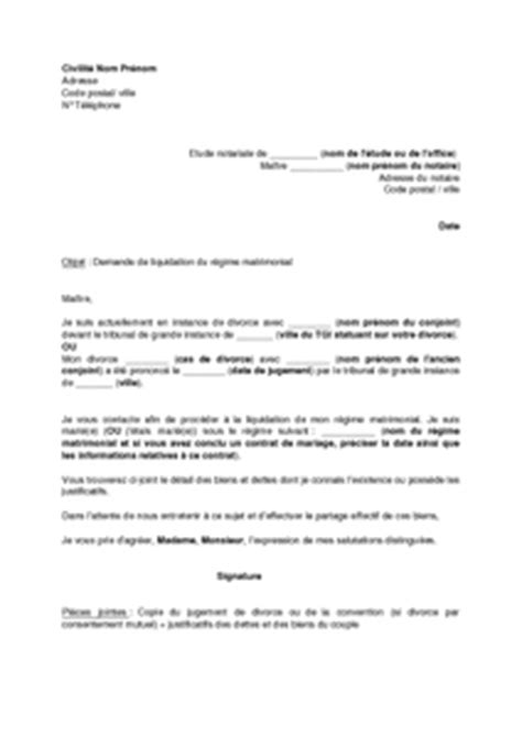 Exemple gratuit de Lettre demande rendez-vous à notaire