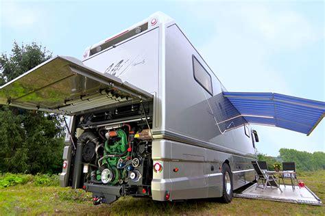 volkner rv volkner mobil luxury motorhome features a built in garage