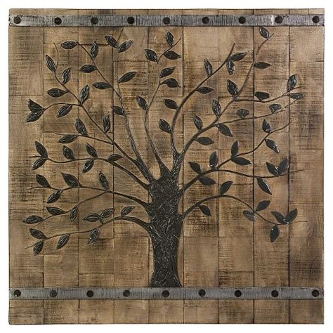 wooden plank tree wood plank tree decorative wall target