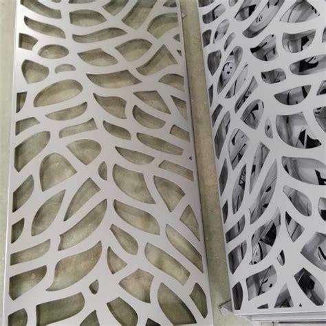 leaf pattern metal screen aluminum screen dividers abstract leaf pattern arrow