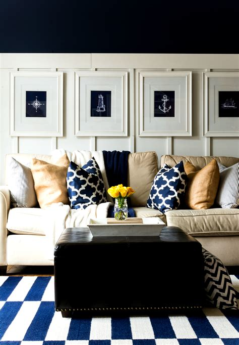 navy home decor spring decor ideas in navy and yellow it all started