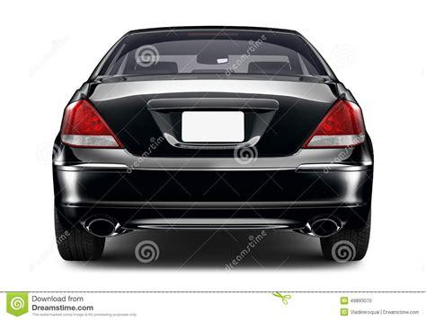 car rear view black sedan car rear view stock illustration image