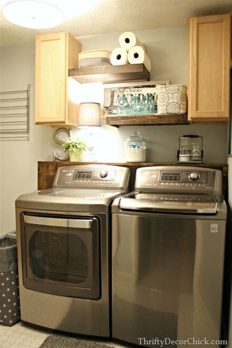 How To Build Laundry Room Cabinets Beautifully Organized Small Laundry Rooms The Happy Housie