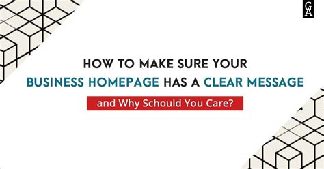 Has Posted A Message On Websit by How To Make Sure Your Business Homepage Has A Clear