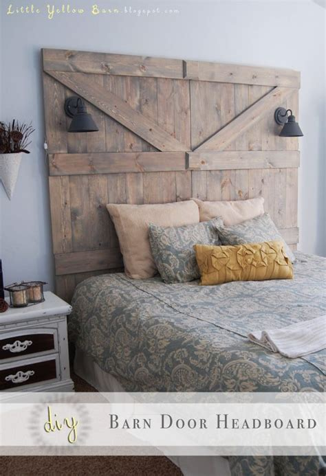 How To Make Your Own King Size Headboard by 1000 Ideas About Barn Door Headboards On Door