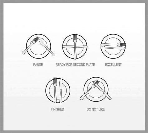 suggestions for utensil placement during a meal business