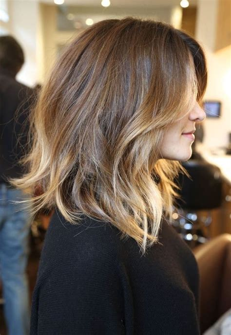 hombre hairstyles with blond messy lob blonde highlights brown hombre bayalage