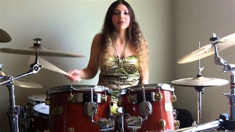 hot chick playing drums tom sawyer rush drum cover by melanie dilorenzo
