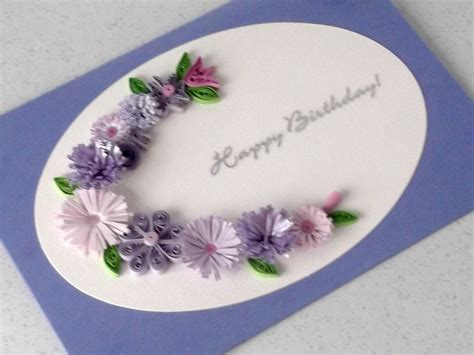 Handmade Greeting Cards Paper Quilling - quilled birthday card handmade greeting paper quilling