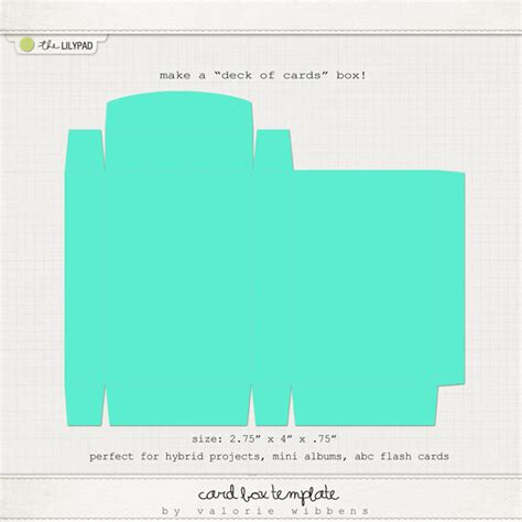 deck of card packaging template digital scrapbooking templates templates the lilypad