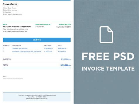 Invoice Psd Template free psd invoice template free vector 365psd