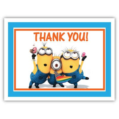 minion thank you card template free minion thank you quotes quotesgram