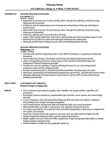 cover letter for process engineer process engineer resume resume ideas