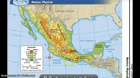physical maps of mexico mexico s physical features