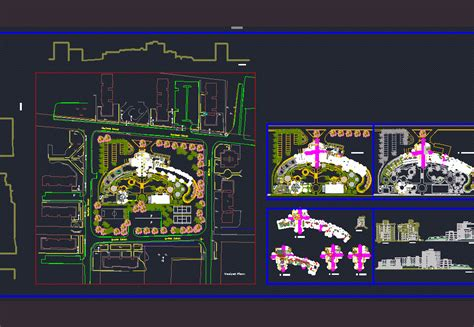 5 star hotel layout plan dwg five star hotel with gym and pool 2d dwg design full