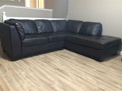 real leather sectional with chaise 2 piece genuine leather sectional w right hand facing