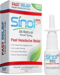Detox From Imitrex by Sinol M Headache Relief Nasal Spray With Capsaicin