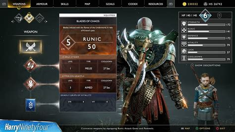 Kaos God Of War Fc1183 god of war how to fully upgrade the blades of chaos why