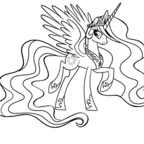 My Little Pony Princess Celestia Coloring Pages In A Dress My Pony Princess Celestia Coloring Page Printable