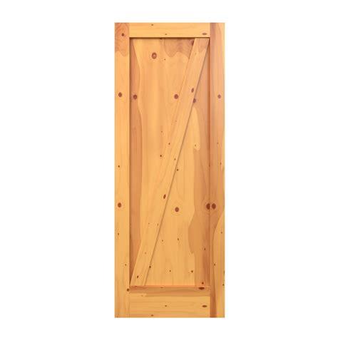 Karona 1 Panel Half Cross Buck Barn Door Barn Doors At Half Barn Door
