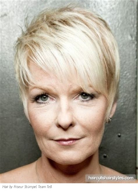 hairstyles for older women with full faces modern pixie haircut for older women
