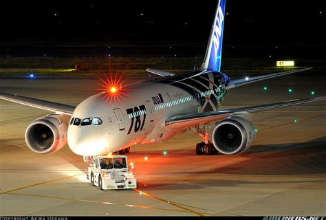 aircraft anti collision lights boeing 787 8 dreamliner all nippon airways