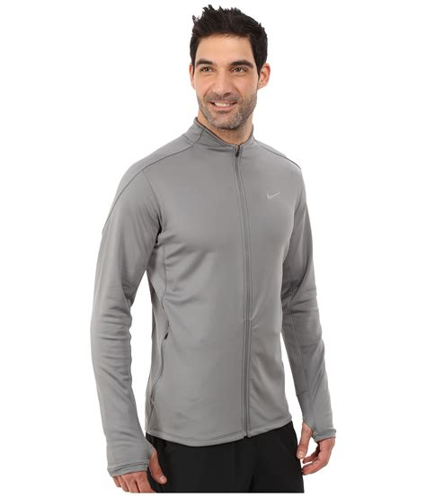 Sweater Nike Runnin Rebels Performance Therma Fit Hoodie 100 Original nike dri fit thermal zip running jacket in gray for
